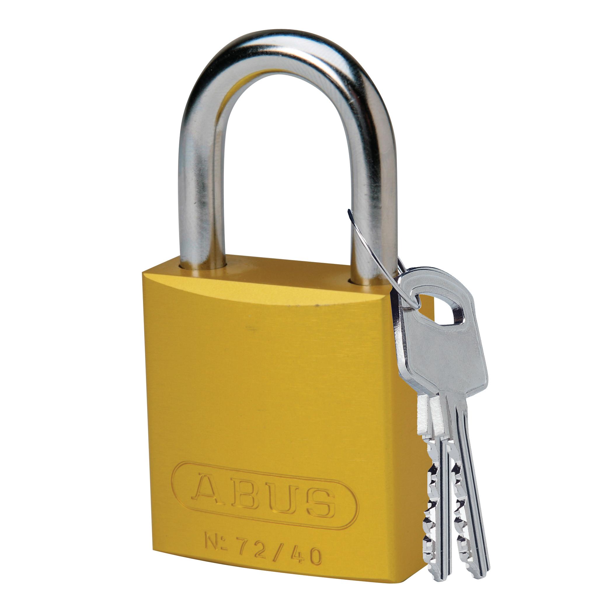 Cadeado de alumínio com segredos iguais - Amarelo