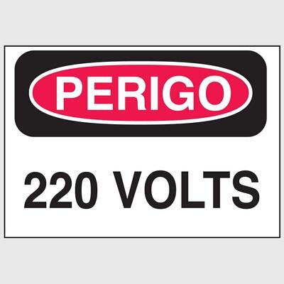 Etiqueta de advertência - Perigo 220 Volts