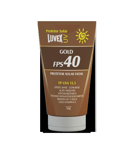 Protetor solar facial FPS 40 Gold vitamina E