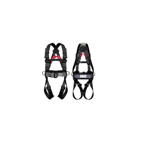 Cinturão paraquedista preto com 3 argolas