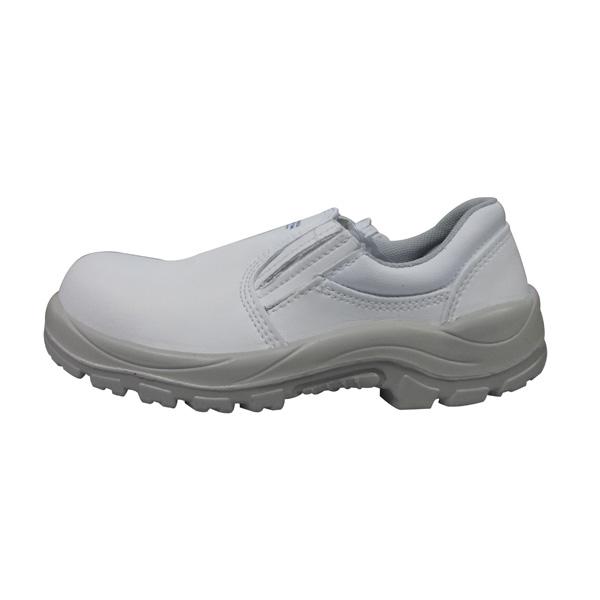 Sapato microfibra elástico bico composite - Branco