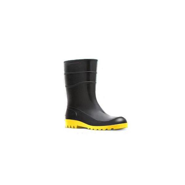 Bota de PVC preta cano curto com solado amarelo 780FCA   PROT-CAP 05ec72ffe5