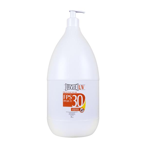 Creme Luvex fator 30 UVA com repelente - 2 litros