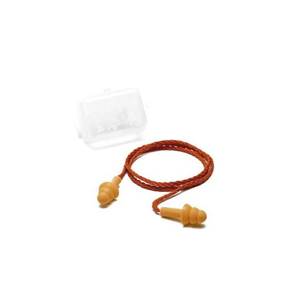 Plug silicone vermelho com cordão