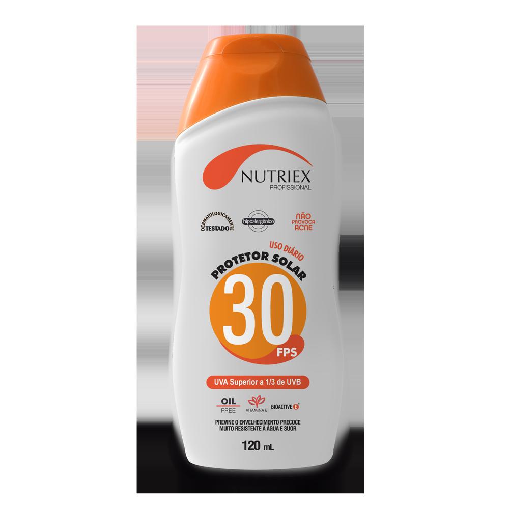 Protetor solar FPS 30 frasco 120 ml Nutriex