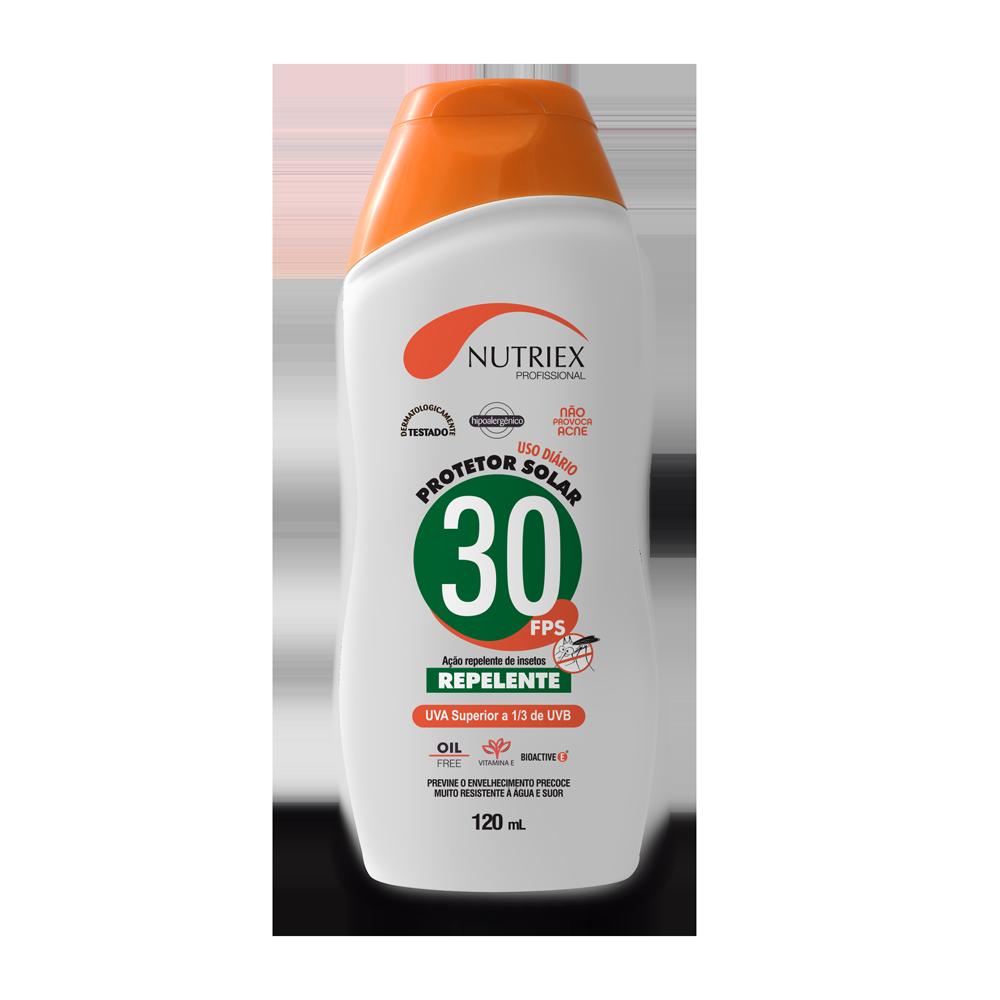 Protetor solar FPS 30 com repelente frasco 120 ml Nutriex