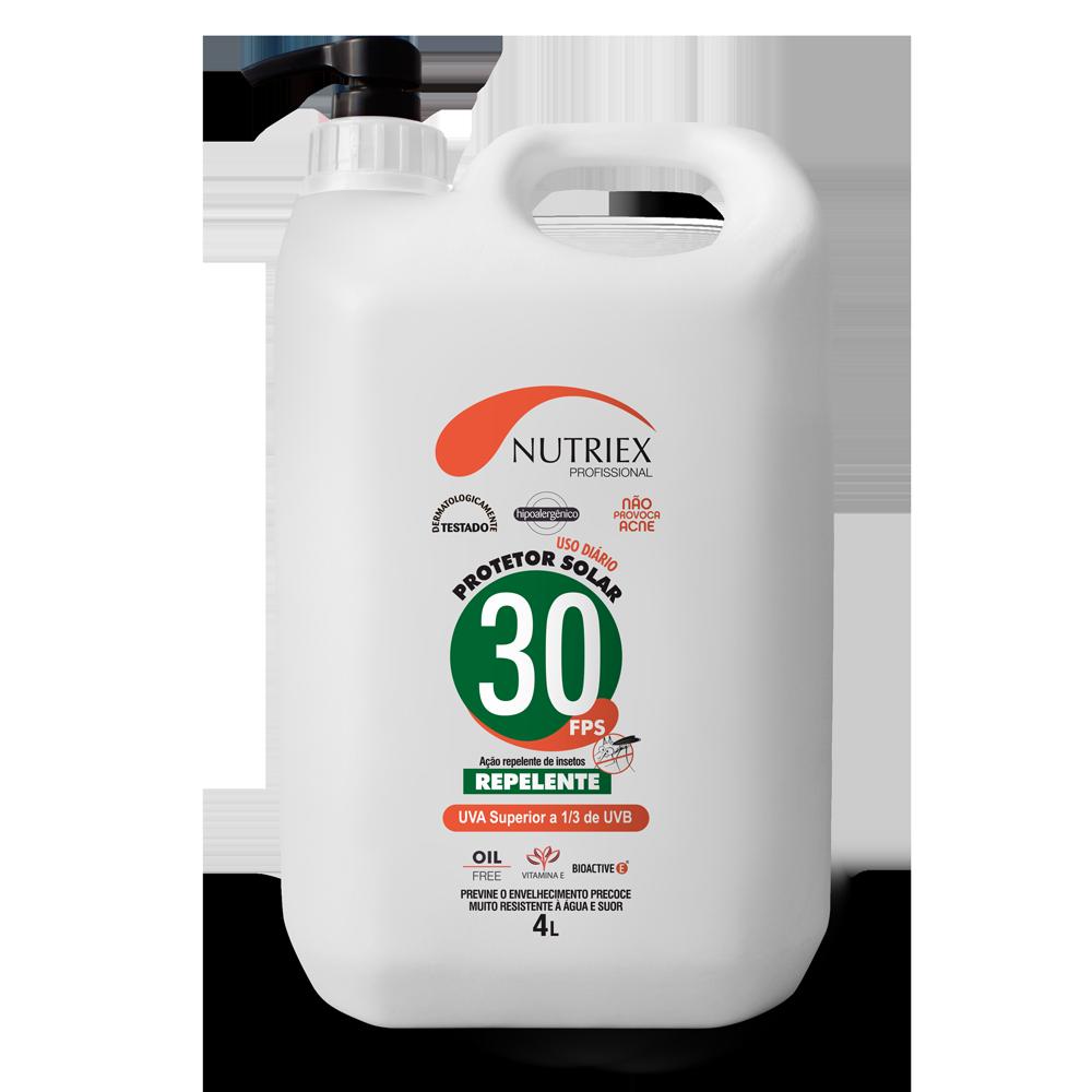 Protetor solar FPS 30 com repelente dosador 4 L Nutriex
