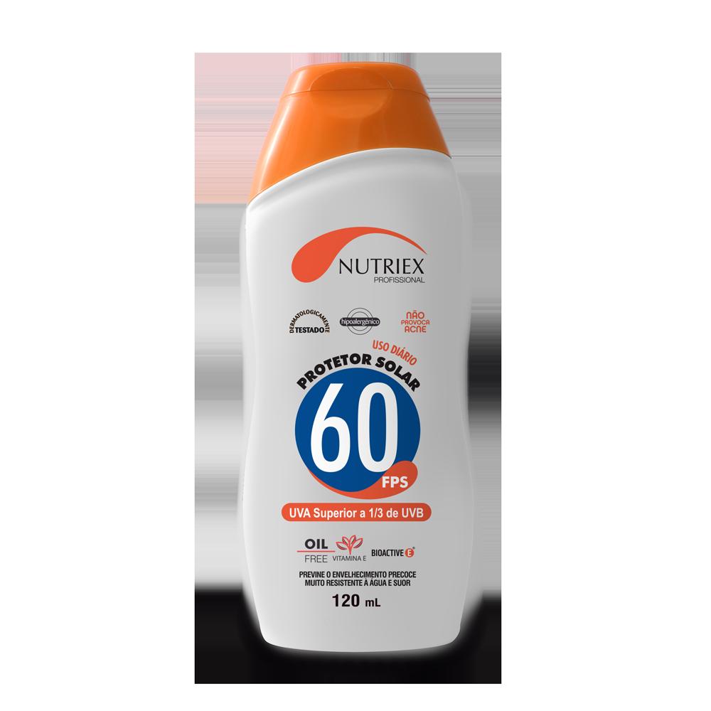 Protetor solar FPS 60 frasco 120 ml Nutriex