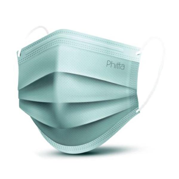 Máscara cirúrgica descartável com elástico tripla proteção virucida Phitta Mask