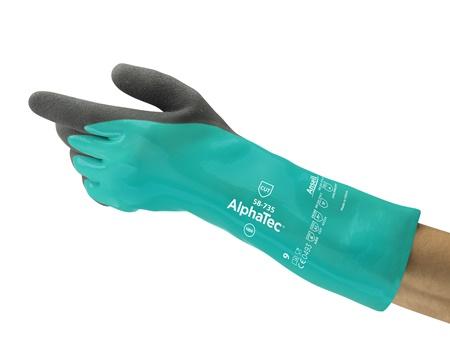 Luva com banho nitrílico e fibra vidro AlphaTec Ansell