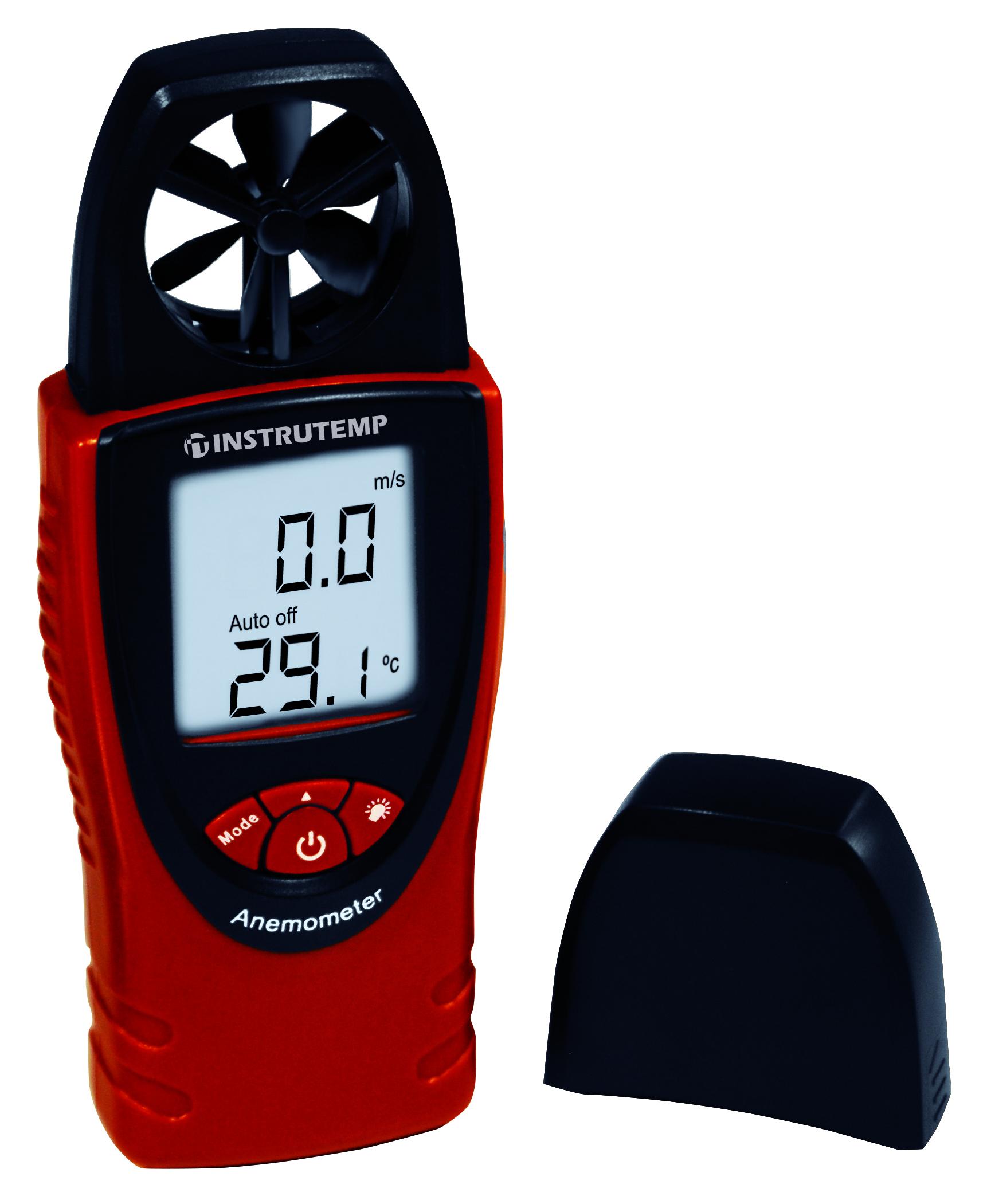 Anemômetro com medição de temperatura e umidade