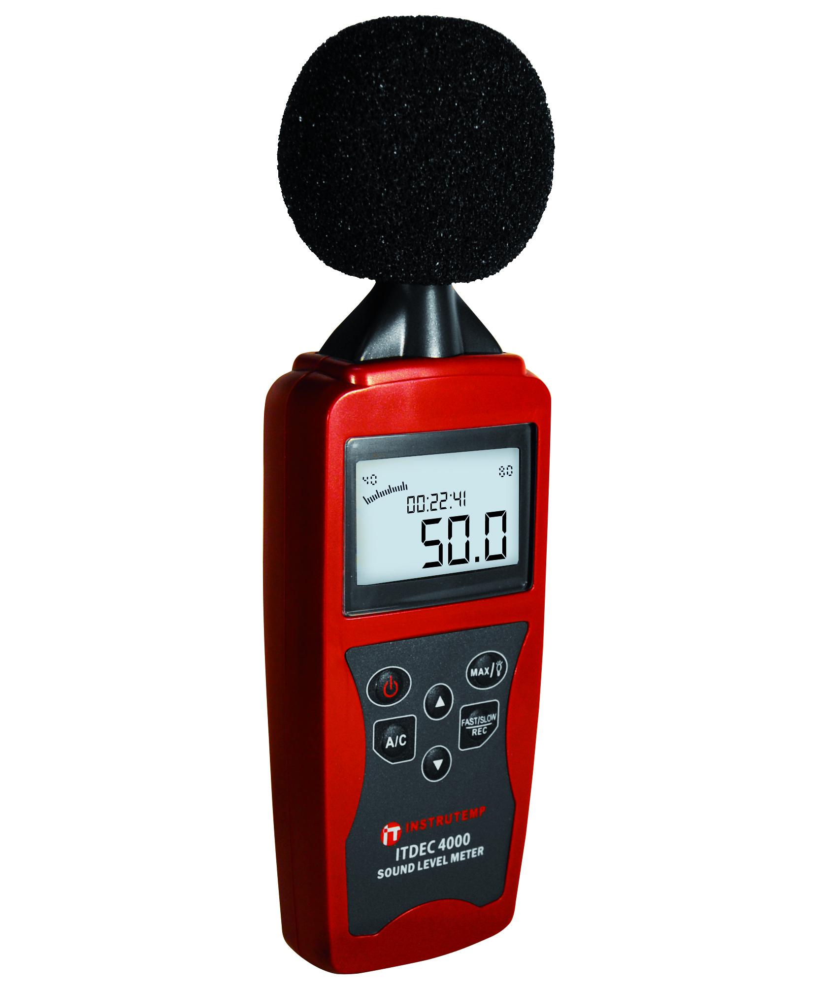 Decibelímetro para medir intensidade sonora ITDEC4000 ...