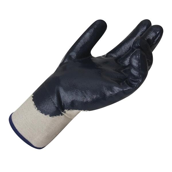 Luva nitrílica - Suporte têxtil e punho em lona
